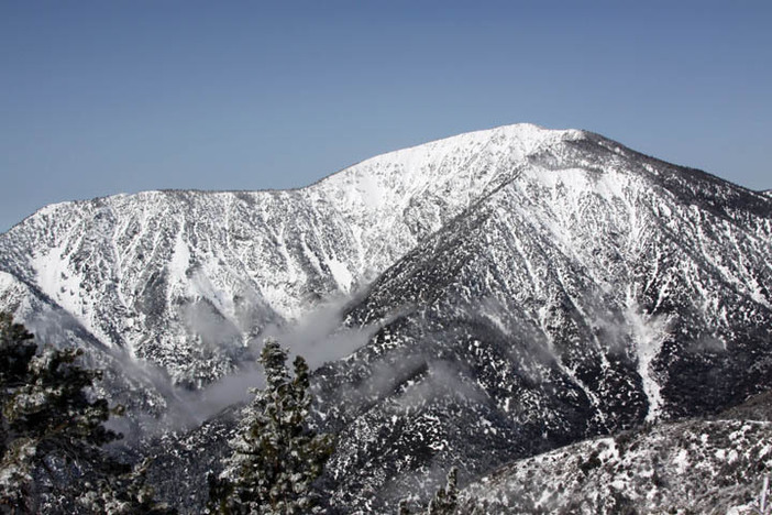 Fresh snow covers Mt Baden Powell to the West.