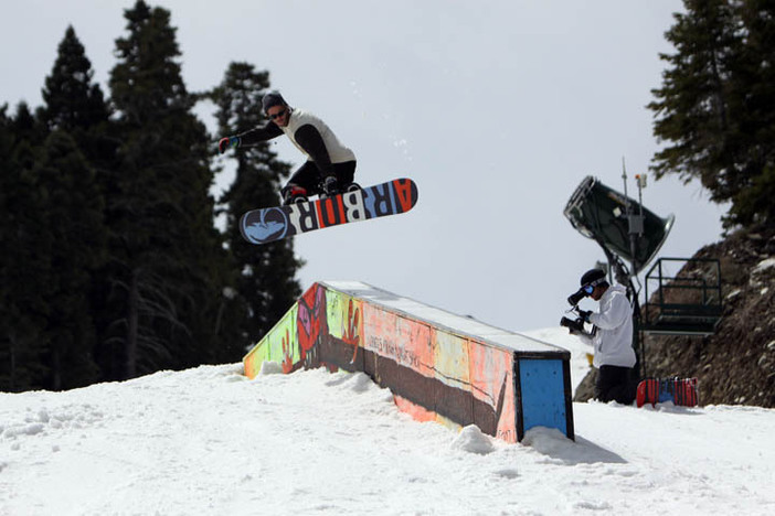Trever Haas airing onto the Flat Down Box.