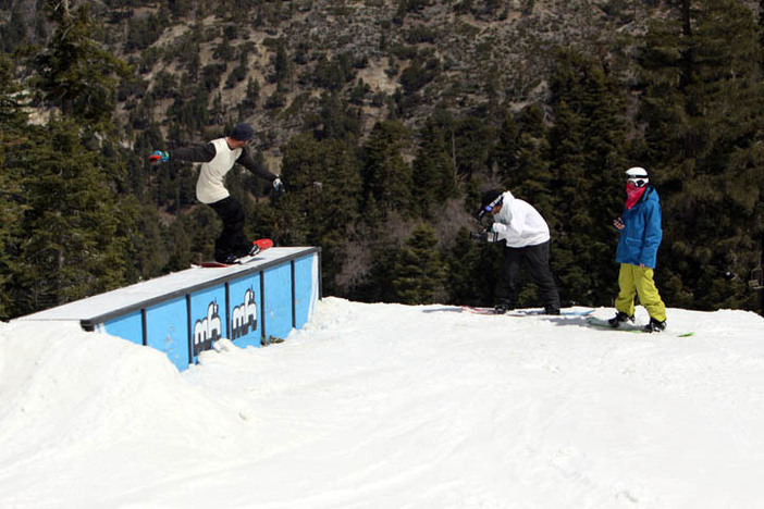 Trever Haas filming with Matt Devino and the crew.
