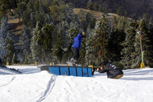 Backside Nose Press by Mountain High rider Nick Guin.