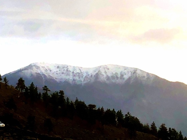 Fresh snow in the local mountains. Opening day will be here before you know it.