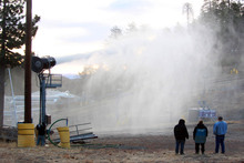 Snowmaking test this morning in preparation for the real thing in the coming weeks.
