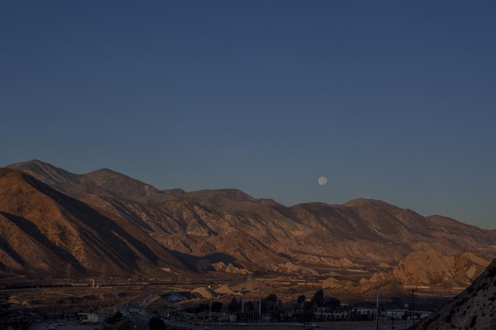 Super Moon over I-15
