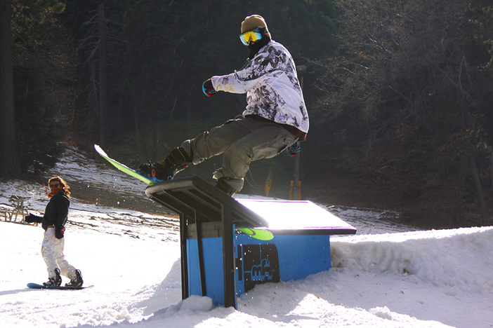 Schroeder with the Front Side Lipslide through the C-Box