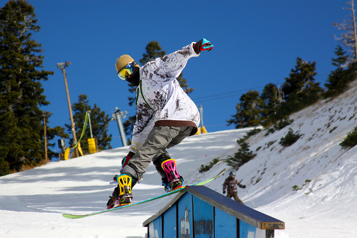 Schroder getting it on the A-Frame Rail