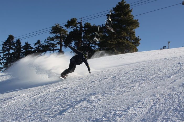 Lay some fresh carves on steep and fast Wyatt.