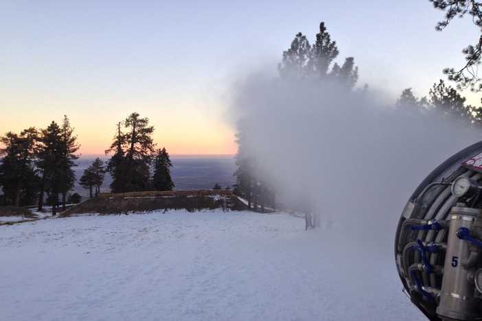 Snowmaking ran for a little over 24hrs and than stopped for the day but is scheduled to resume tonight.