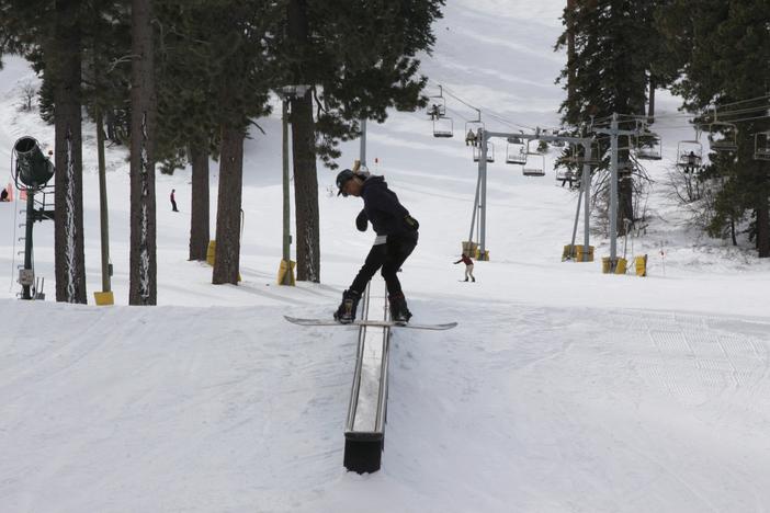 Board slide on Creekside.