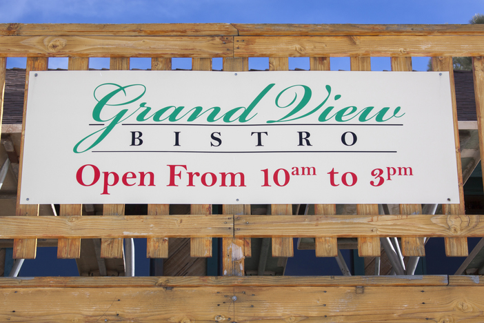 The Grand View Bistro is open today through the holiday weekend.  Located at the summit of the East Resort.