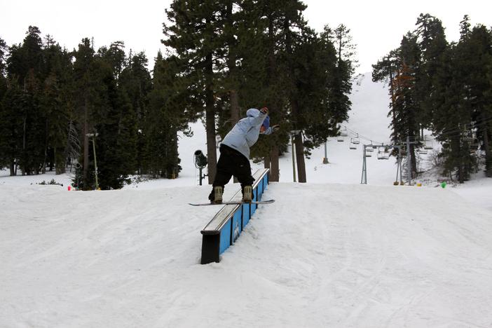 Board Slide on the down ledge on creekside.