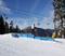 Ski slide on the tiered boxes on Borderline.