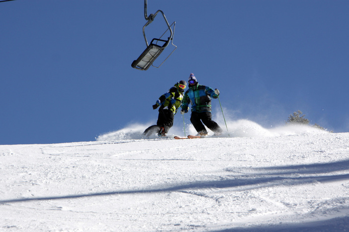 Carving the freshies on Wyatt.