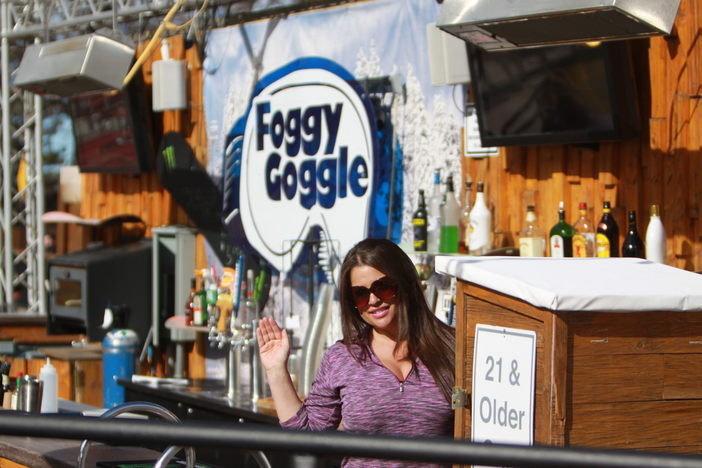 Cool down at the Foggy Goggle with a frosty beverage in between those hot laps in the park.