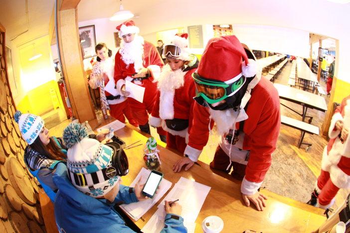 Santa's Checking In.