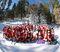 That's a lot of Santa's!! #MHSantaSelfie