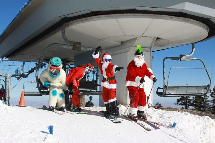 Chair lift rides with Yeti. #HaveYouSeenHim