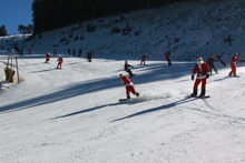 Santa's streaking down Upper Chisolm.