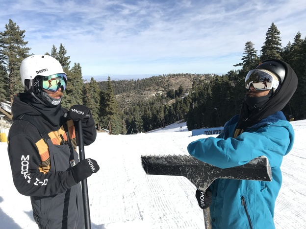 Park staff looking fresh in their VonZipper Goggles and 32 Jackets.