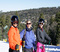 Skiing as a family.