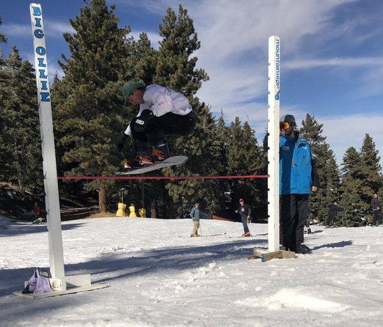 Go snowboarding day spot 2. Highest Ollie competition.