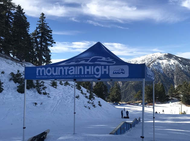 Go snowboard day. Spot 1. Different prizes were awarded all day for cool tricks at different spots around the mountain.