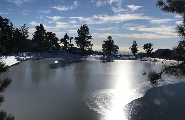 Full reservoir ready for snowmaking.