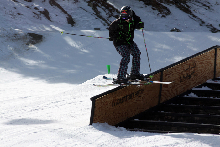 Ski Slide on the Active Stairset.