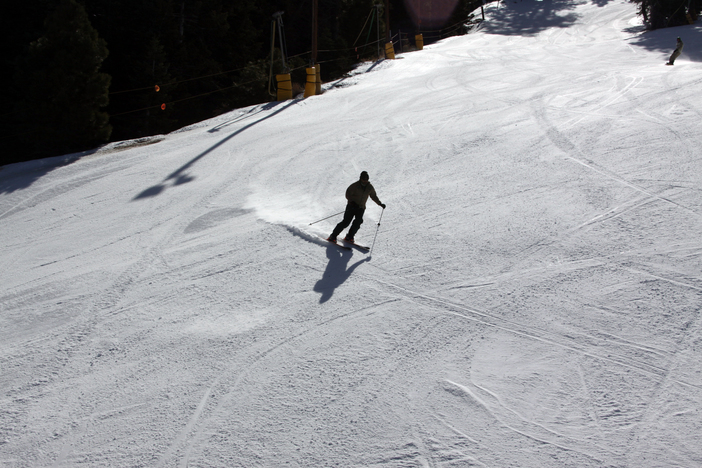 Ripping turns at the top of Wyatt.