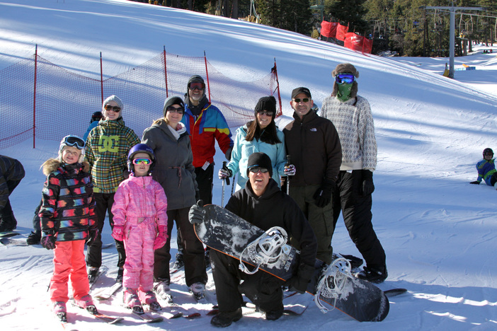 Snow time is family time.