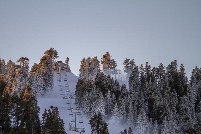 Extensive top to bottom snowmaking underway.