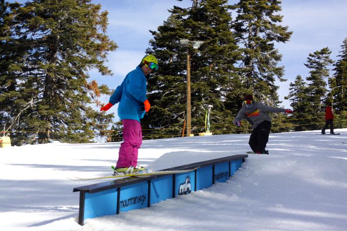 Ski Slide to Switch Landing.