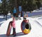 Experience tubing glee at the North Pole Tubing Park, open weekends and holidays.