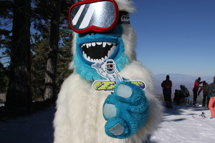 The Yeti is on the mountain today.  Come get your Yeti stickers.
