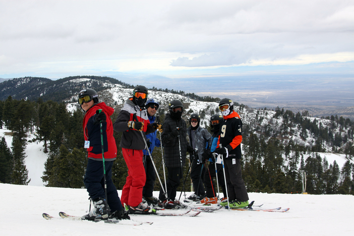 Group #10 of The Blue Angels Youth Ski and Snowboard program.