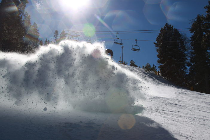 Carving up the packed powder on Catch you later.