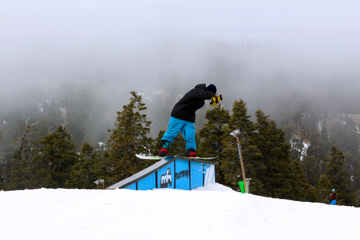 Getting blunted on the A-Frame rail.