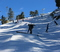 Ripping around the Upper Chisolm snow berms and across the dance pad.
