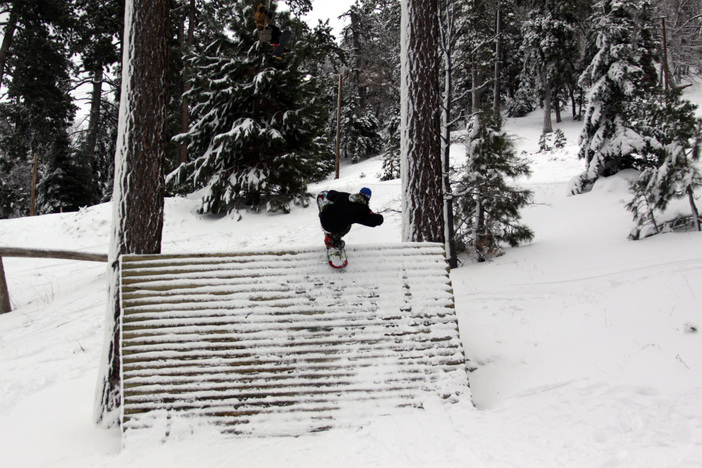 @ceeblow getting a blunt to fakie in the Woodworth Gulch.