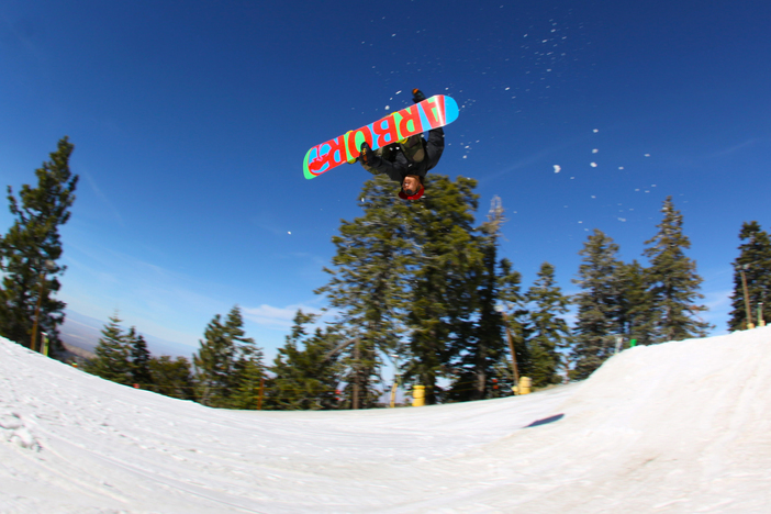 Corked 540 off the Upper Chisolm jumps.