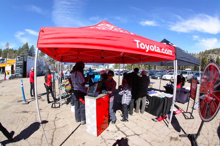 The Toyota team giving out FREE hot waxes!