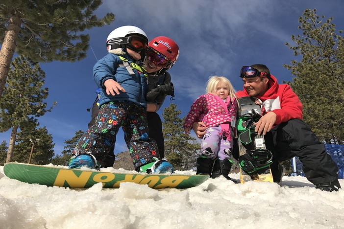Even you can learn to snowboard in your pajamas if you like.