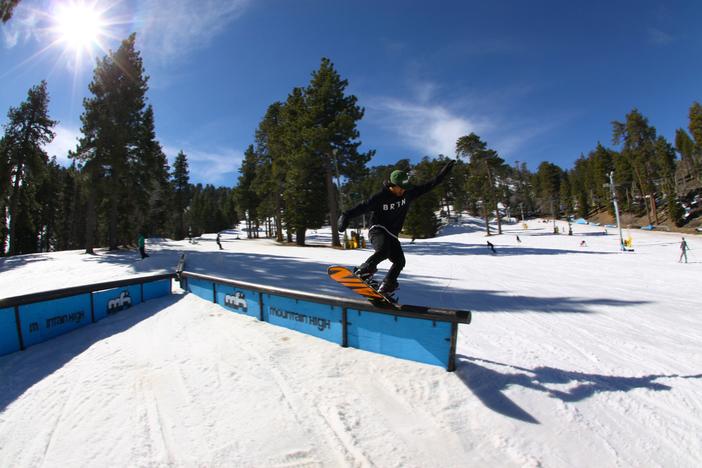 Boardslide through the Y Rail.