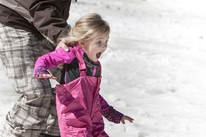 Family fun in the snow.