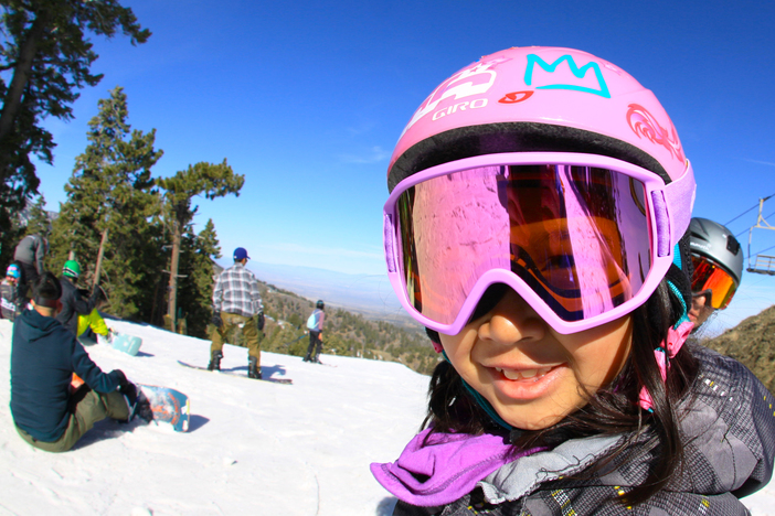 Fall in love with skiing or snowboarding at a young age.