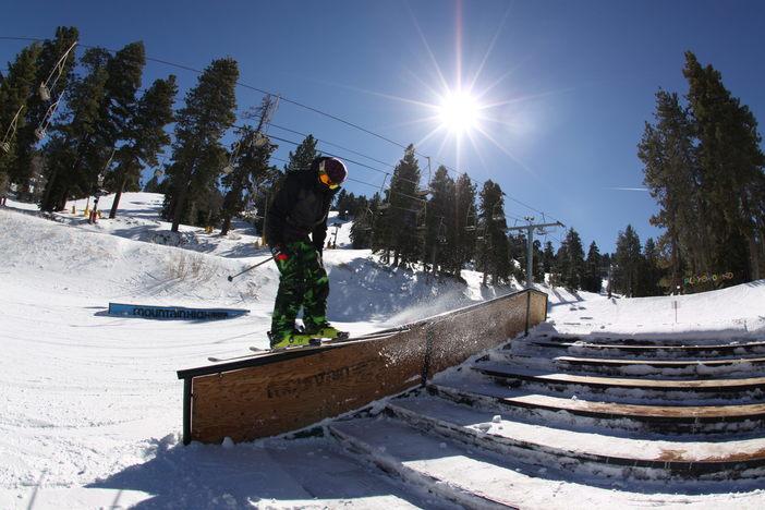 Effortless Ski Slide on the Active Stairset.