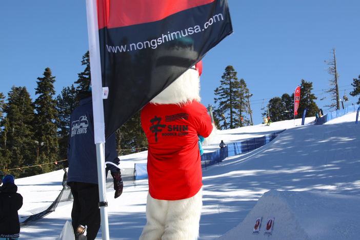 Yeti caught taking in all the action at the Nongshim Slopestyle.