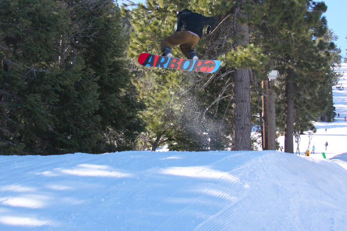 Front Side 360 on the Creekside Jumps.