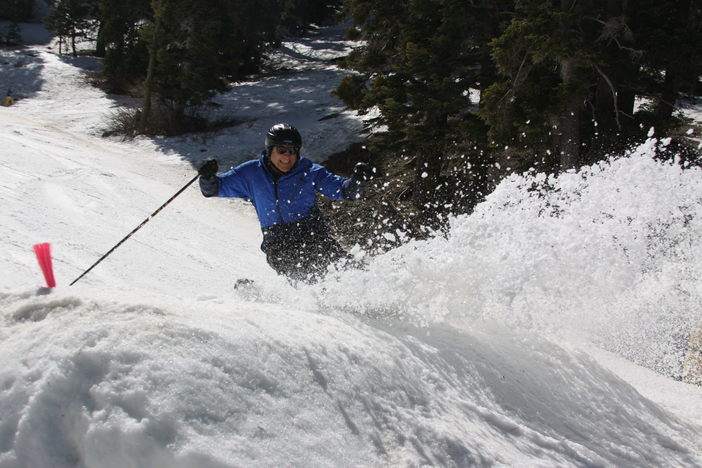 Carving up the fun spring conditions.