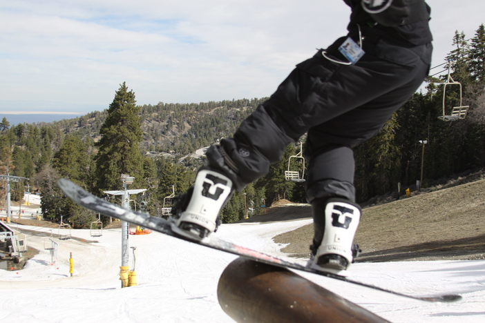 Board slide off the pole.