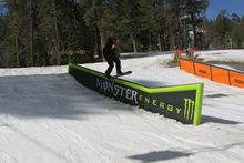 Monster and ThirtyTwo features set up in the playground.